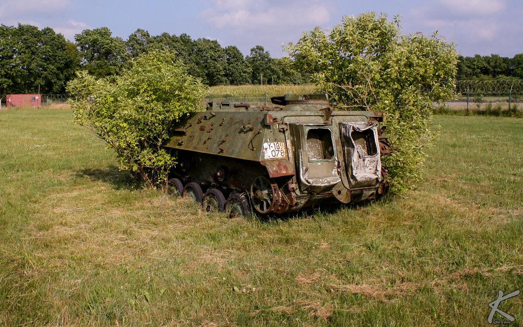 Ein eingewachsener Panzer