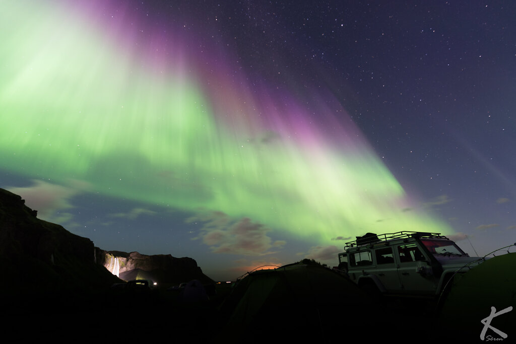 Suðurland - Polarlichter