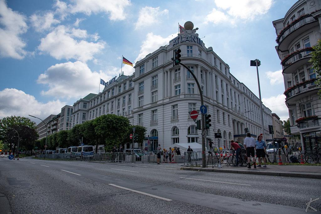 Hotel Atlantic während des G20 Gipfels in Hamburg